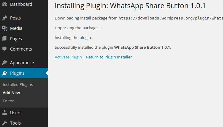 plugin setting whatsapp on your wordpress website