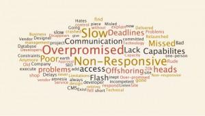 Complaints related to website development vendor