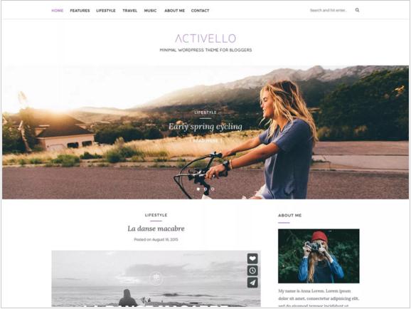 Activello- Popular new and blogging theme