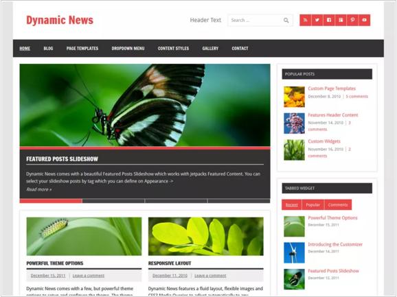 Dynamic News Theme