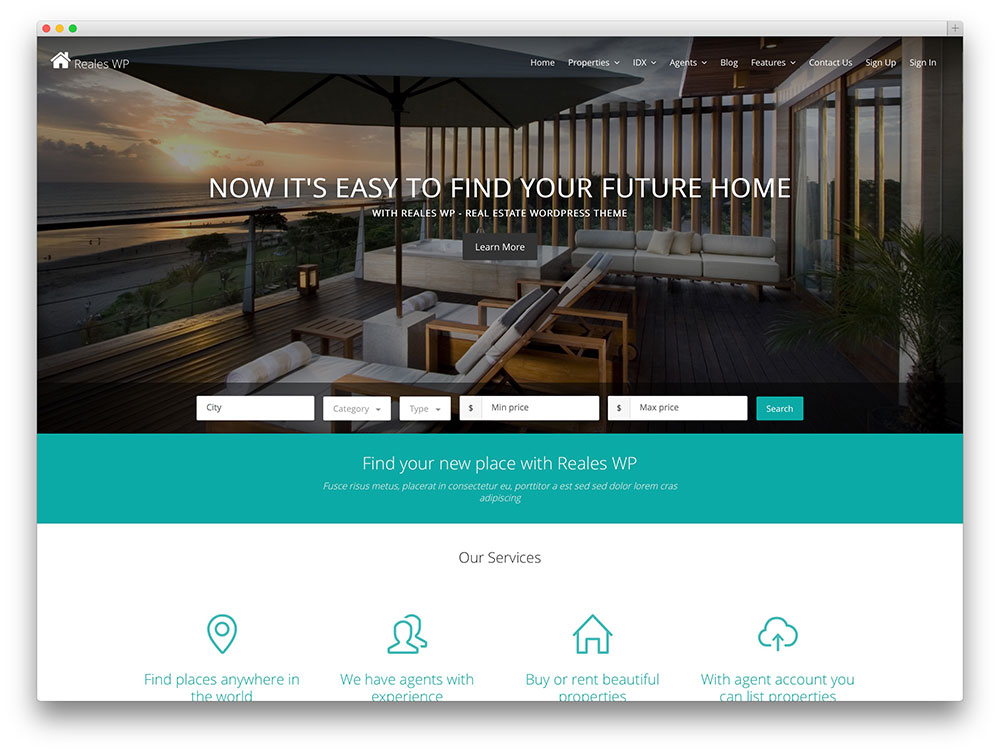 25 brilliant real estate wordpress themes to grow your website. Black Bedroom Furniture Sets. Home Design Ideas