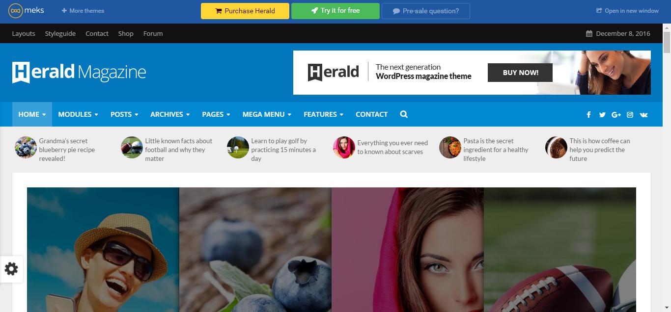 news website designs